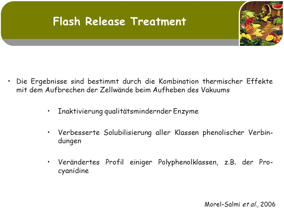 Flash Release Treatment
