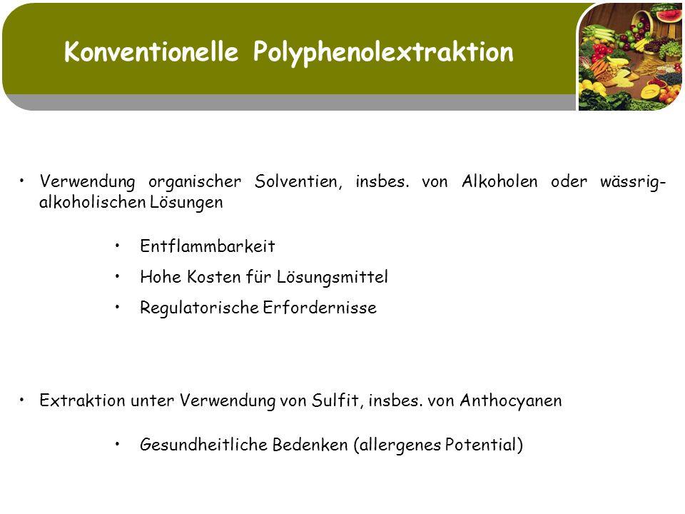 Konventionelle Polyphenolextraktion