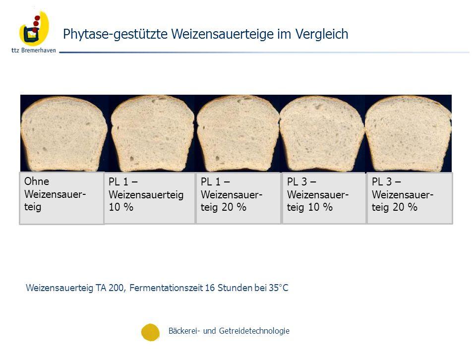Phytase-gestützte Weizensauerteige im Vergleich
