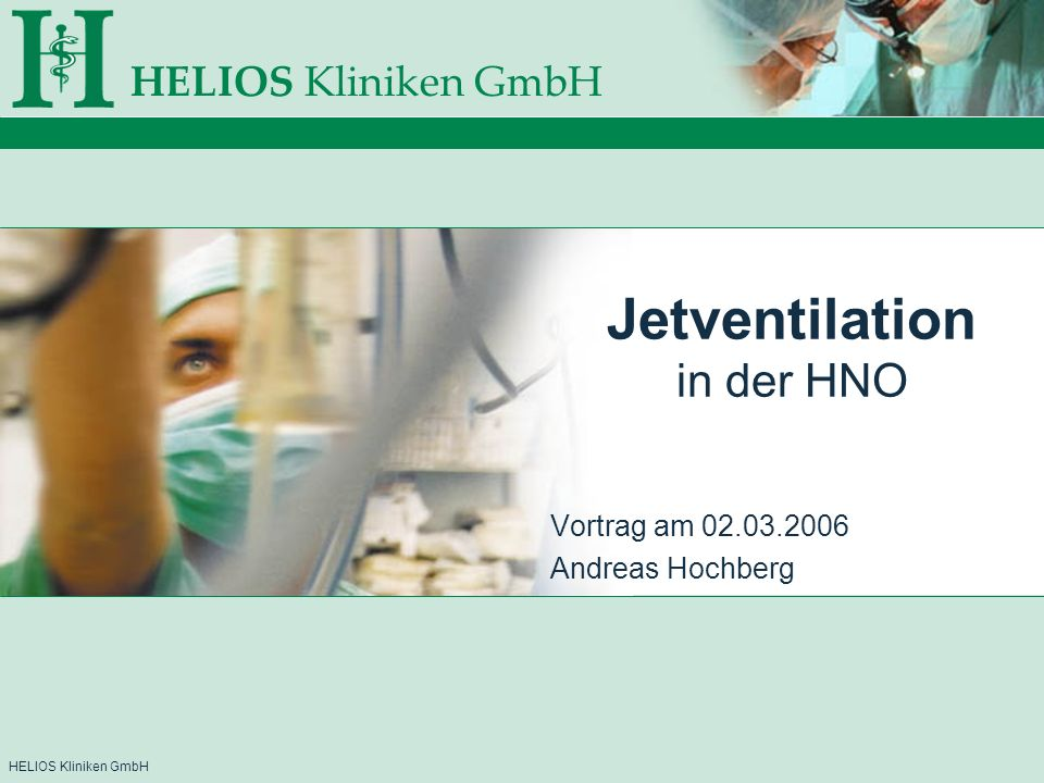 Jetventilation in der HNO