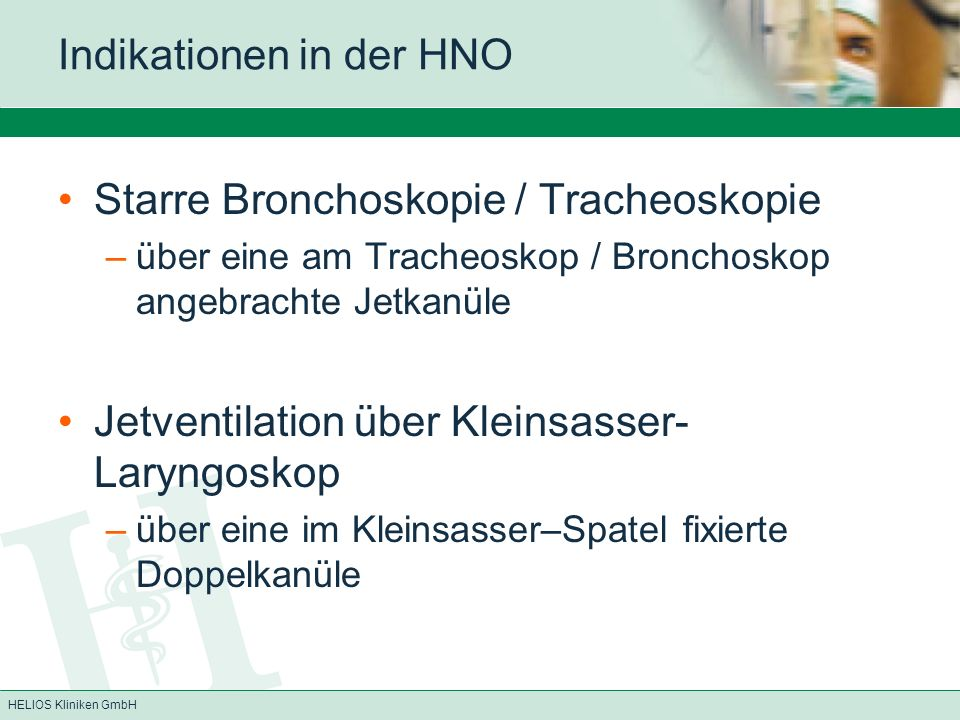 Indikationen in der HNO