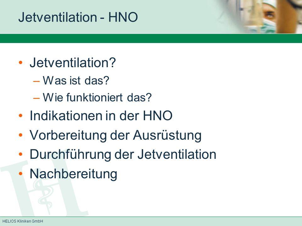 Indikationen in der HNO Vorbereitung der Ausrüstung