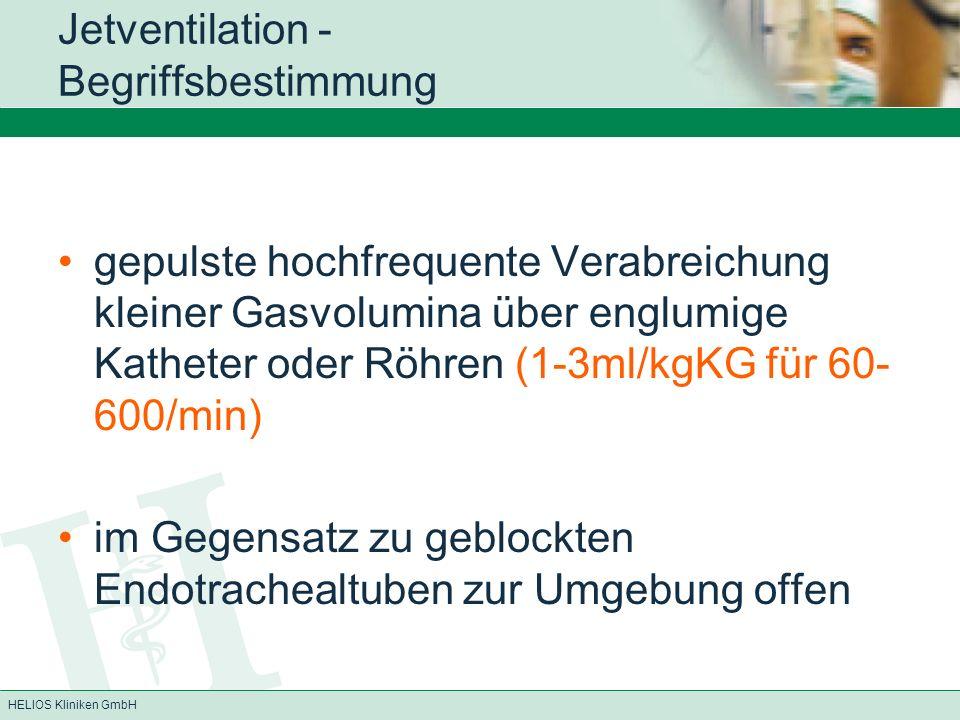 Jetventilation - Begriffsbestimmung