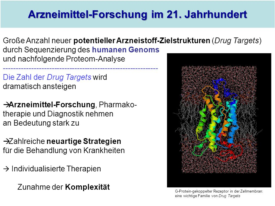 Arzneimittel-Forschung im 21. Jahrhundert