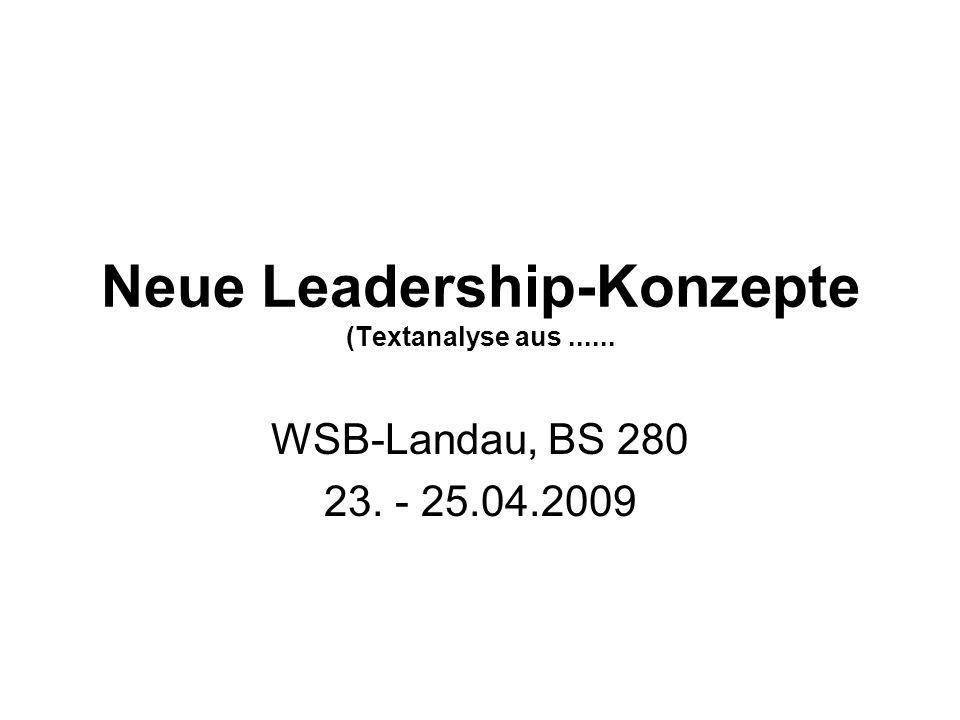 Neue Leadership-Konzepte (Textanalyse aus ......