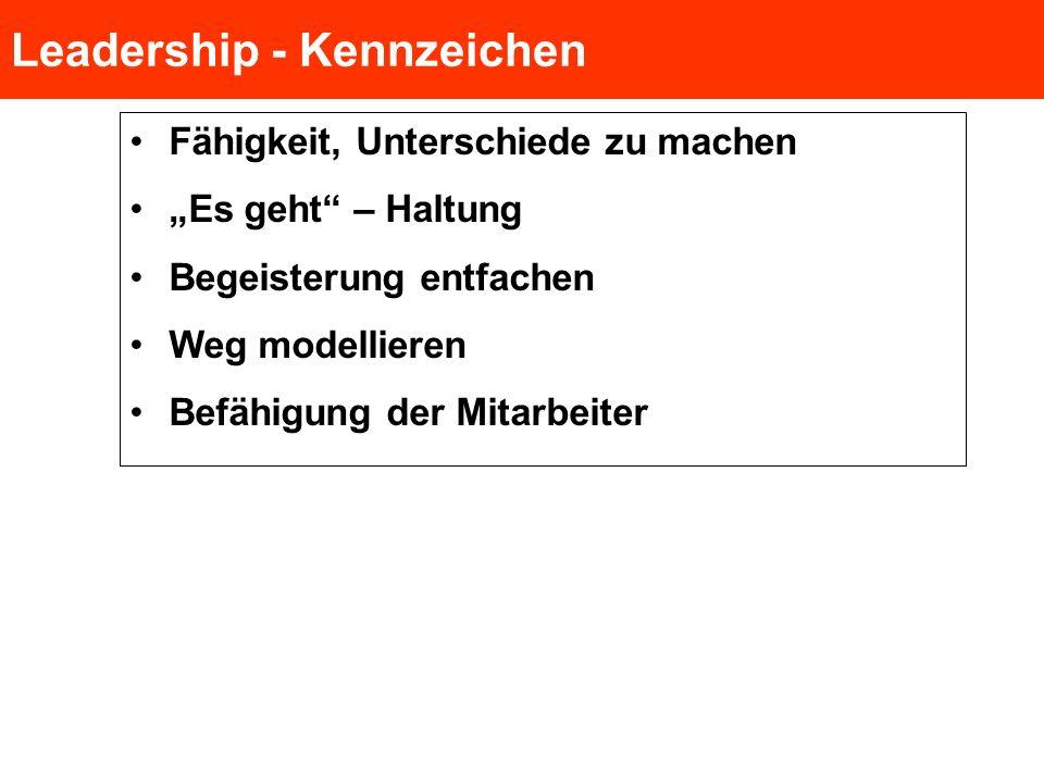 Leadership - Kennzeichen