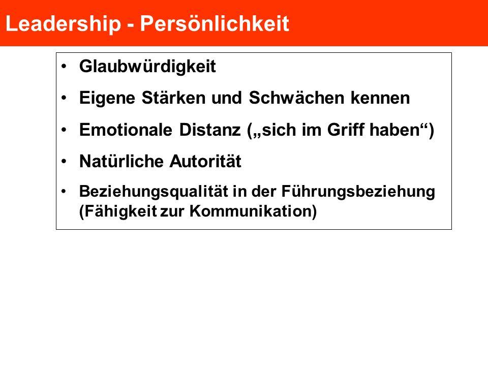 Leadership - Persönlichkeit