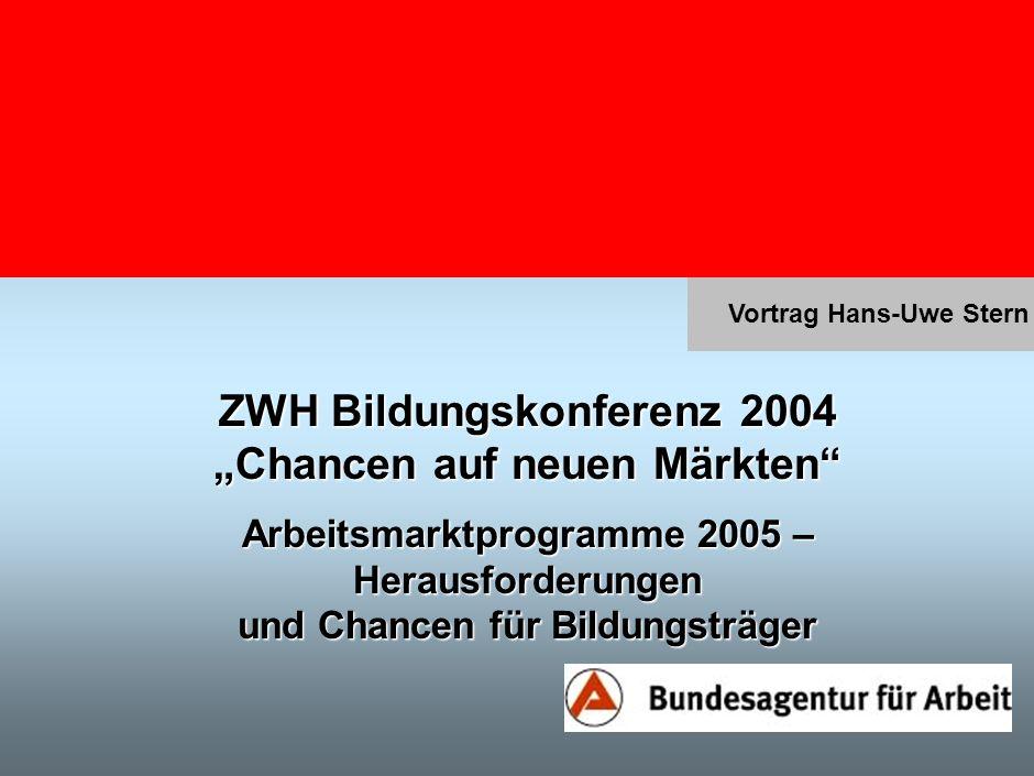 """ZWH Bildungskonferenz 2004 """"Chancen auf neuen Märkten"""