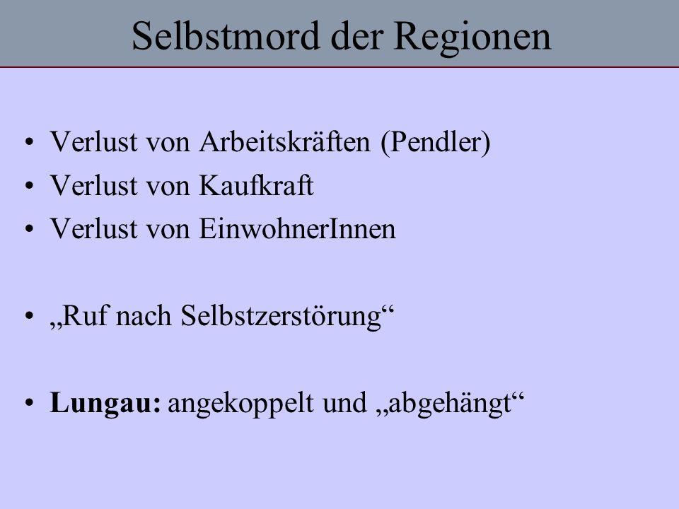 Selbstmord der Regionen