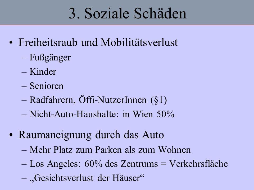 3. Soziale Schäden Freiheitsraub und Mobilitätsverlust