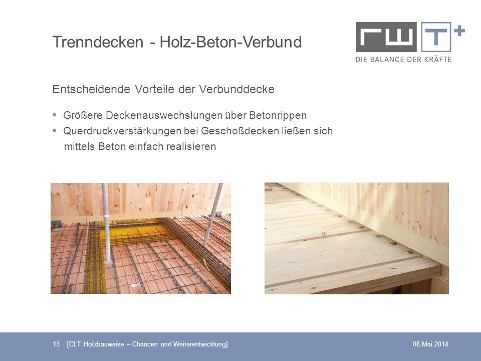 Trenndecken - Holz-Beton-Verbund