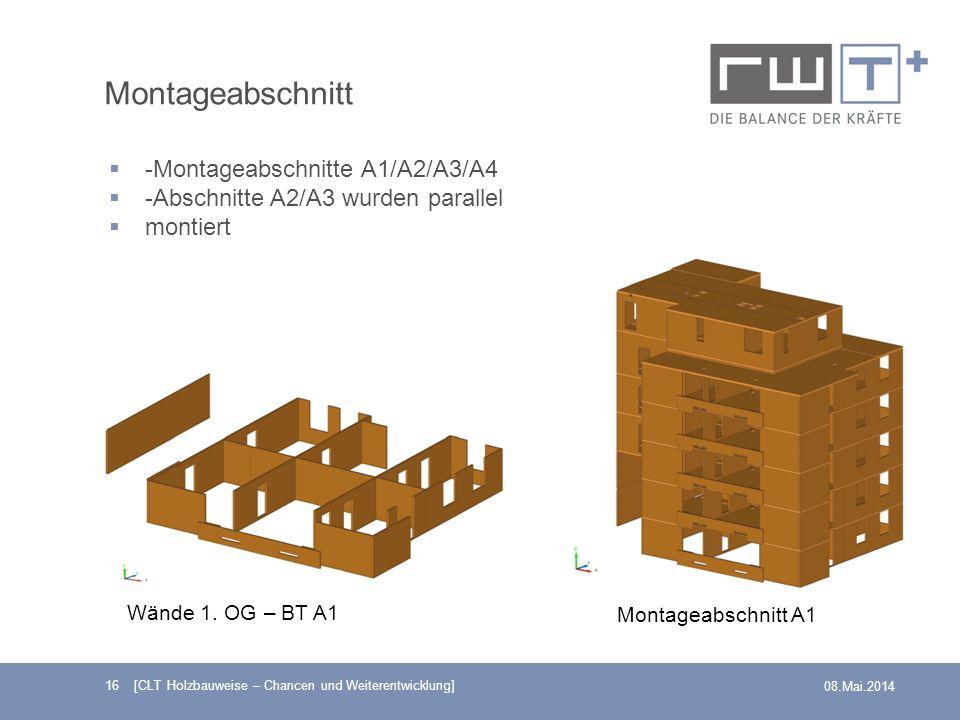 Montageabschnitt -Montageabschnitte A1/A2/A3/A4