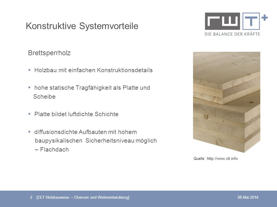 Konstruktive Systemvorteile