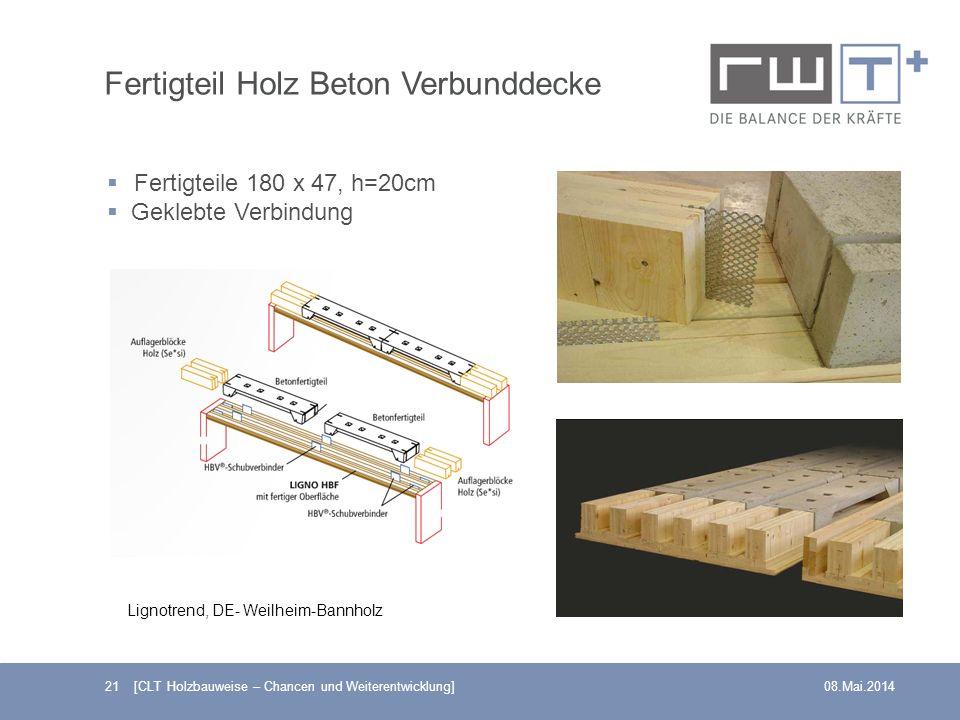 Fertigteil Holz Beton Verbunddecke