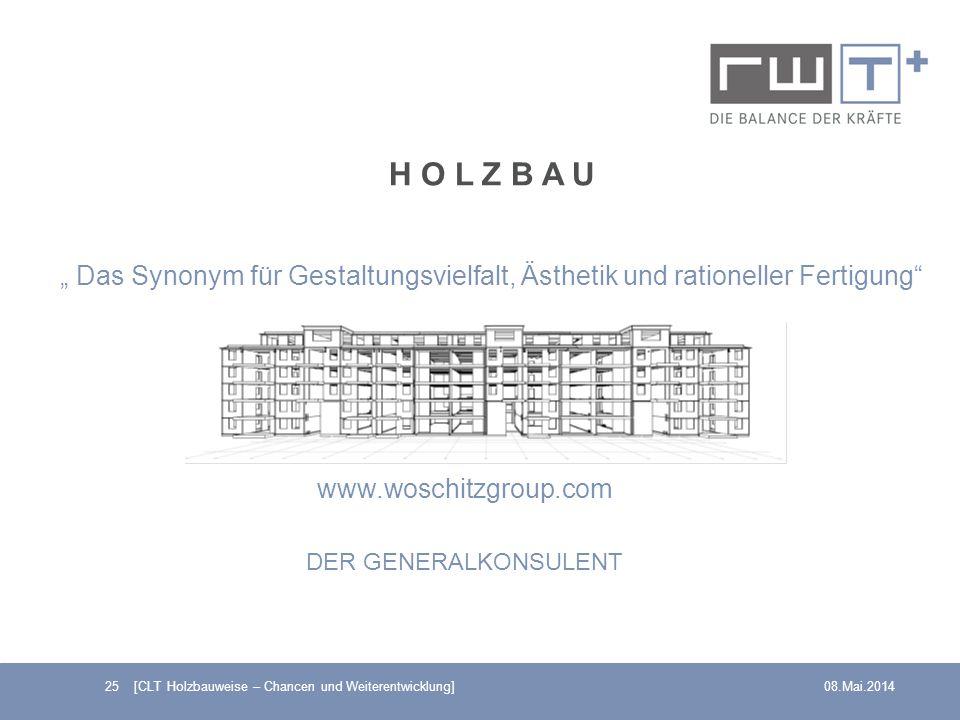 """H O L Z B A U """" Das Synonym für Gestaltungsvielfalt, Ästhetik und rationeller Fertigung www.woschitzgroup.com."""