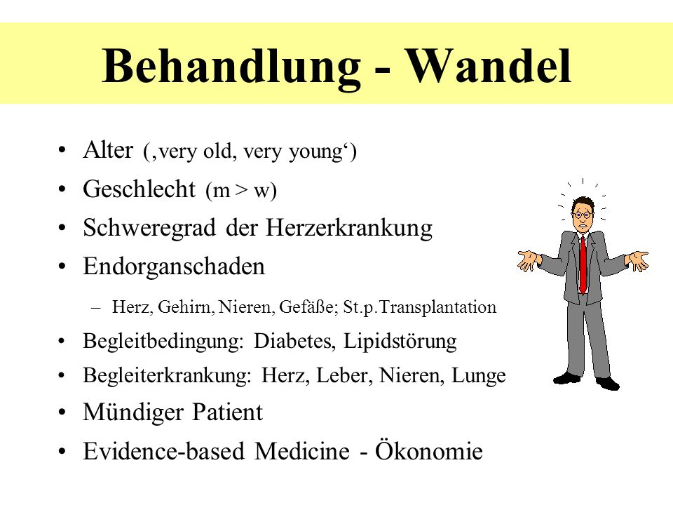 Behandlung - Wandel Alter ('very old, very young')