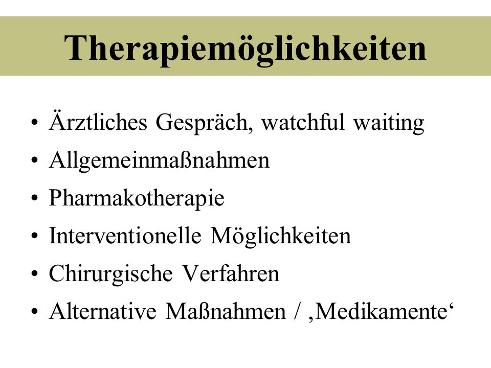 Therapiemöglichkeiten