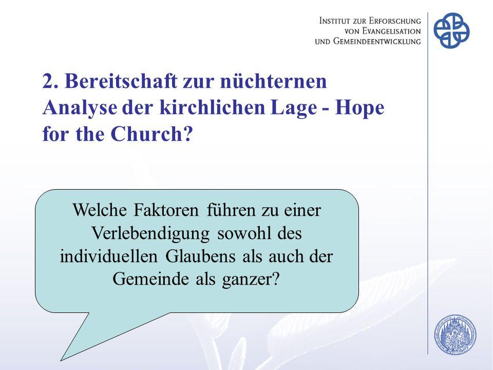 2. Bereitschaft zur nüchternen Analyse der kirchlichen Lage - Hope for the Church