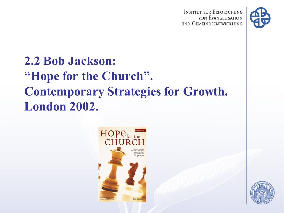 2. 2 Bob Jackson: Hope for the Church