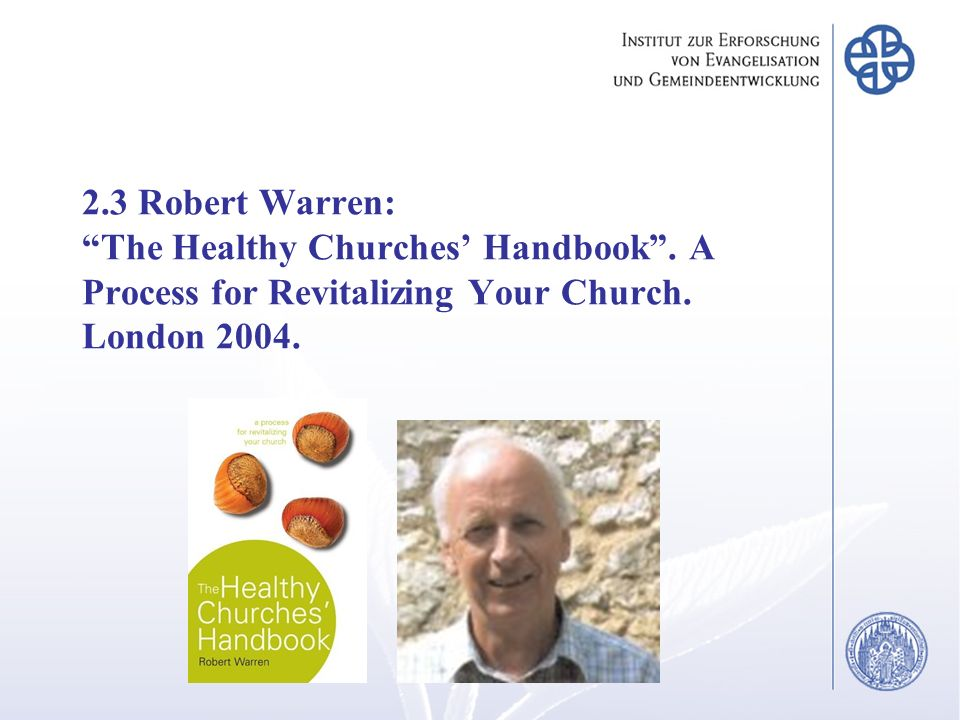 2. 3 Robert Warren: The Healthy Churches' Handbook