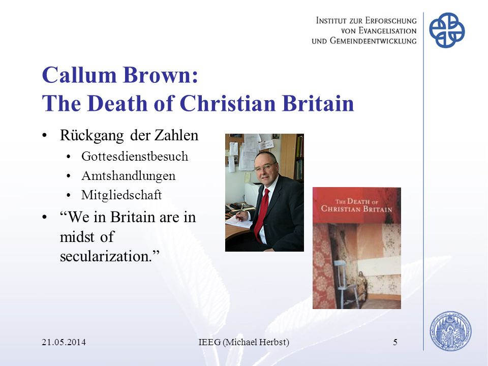 Callum Brown: The Death of Christian Britain