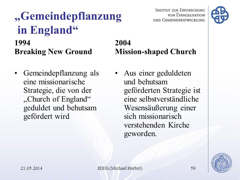 """""""Gemeindepflanzung in England"""