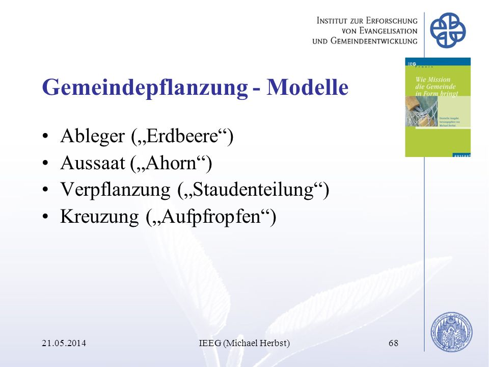 Gemeindepflanzung - Modelle