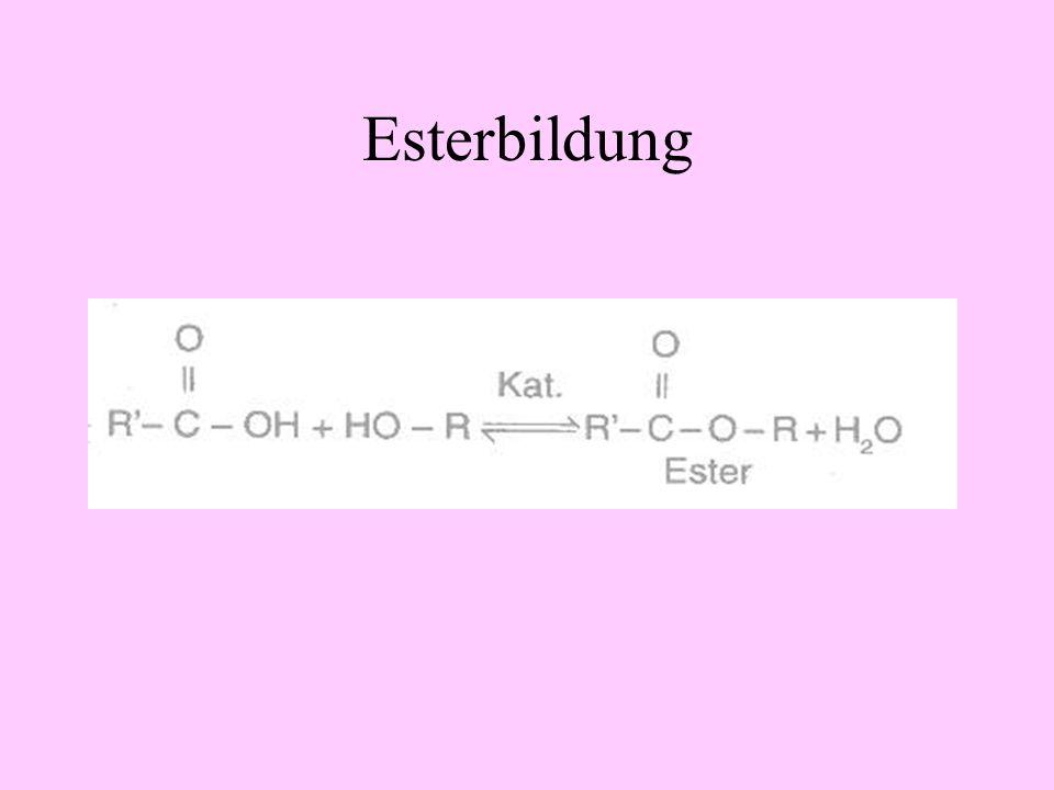 Esterbildung