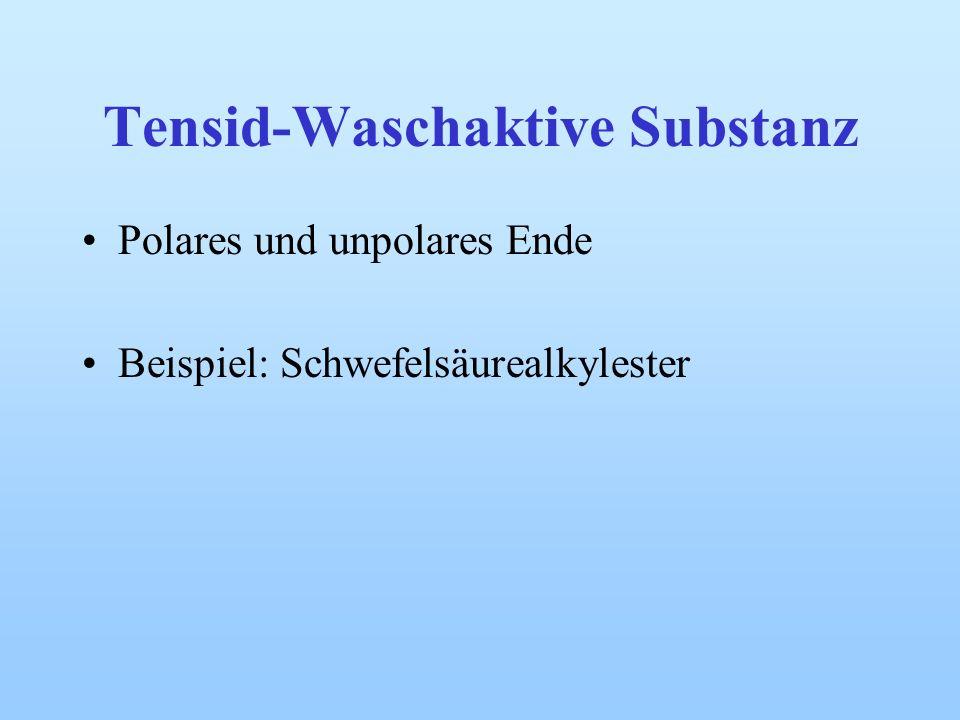 Tensid-Waschaktive Substanz