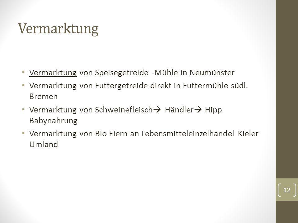 Vermarktung Vermarktung von Speisegetreide -Mühle in Neumünster