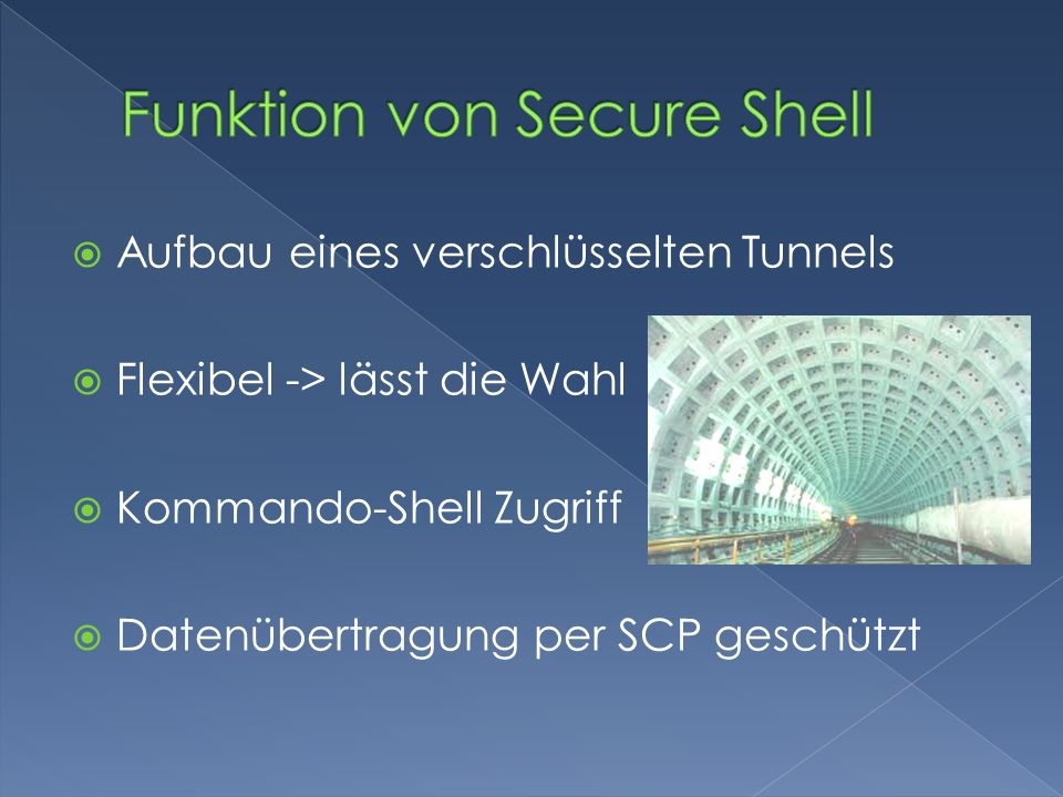 Funktion von Secure Shell