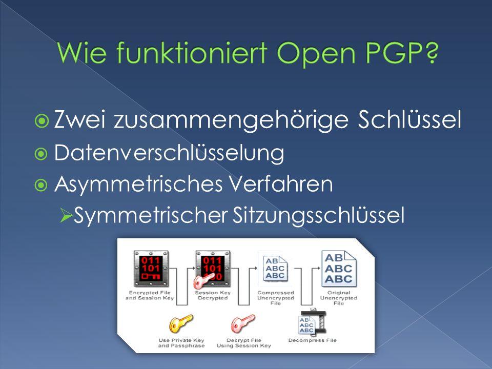 Wie funktioniert Open PGP