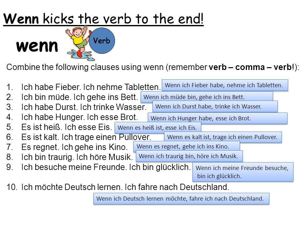 Wenn kicks the verb to the end!