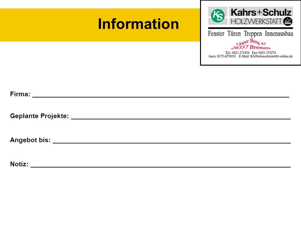 Information Visitenkarte