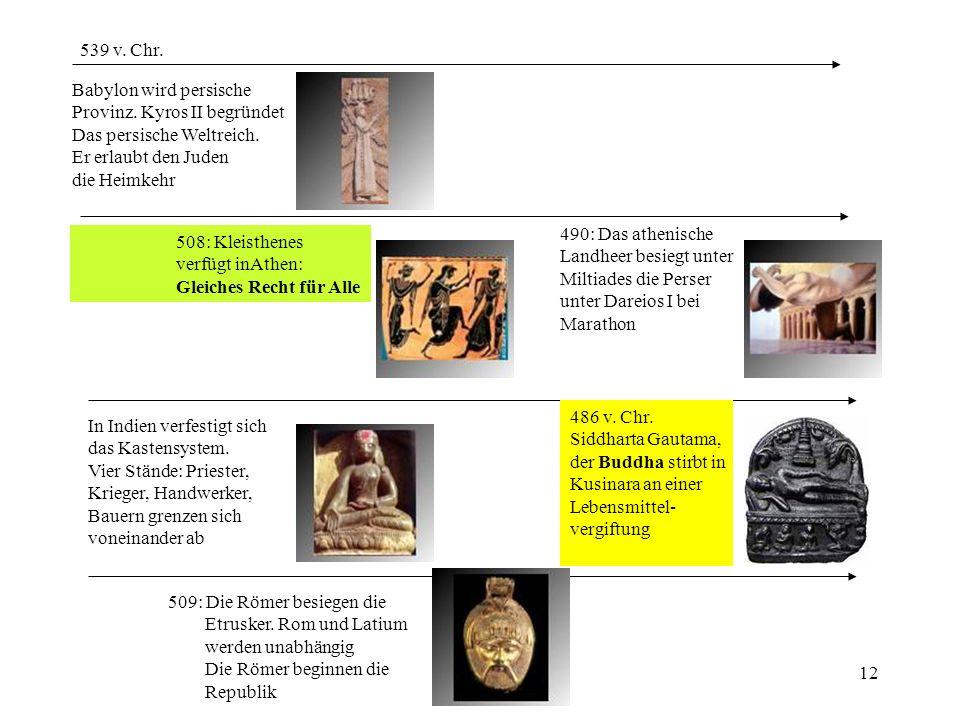 539 v. Chr. Babylon wird persische. Provinz. Kyros II begründet. Das persische Weltreich. Er erlaubt den Juden.