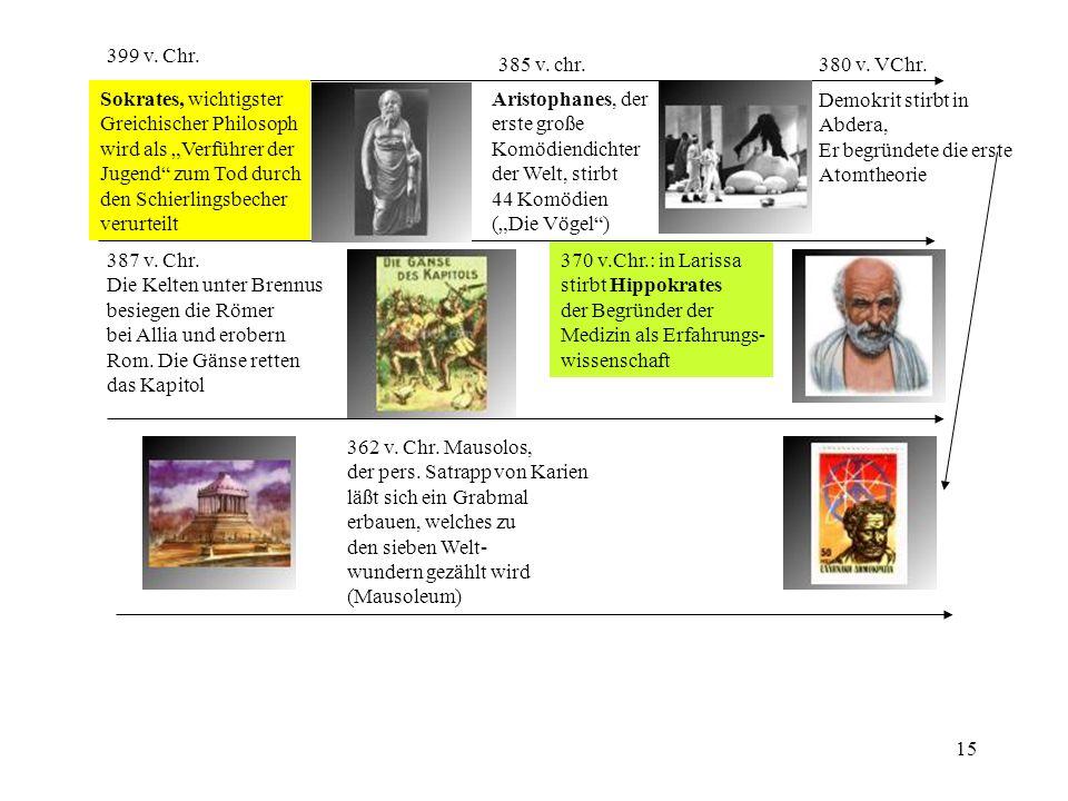 """399 v. Chr. 385 v. chr. 380 v. VChr. Sokrates, wichtigster. Greichischer Philosoph. wird als """"Verführer der."""