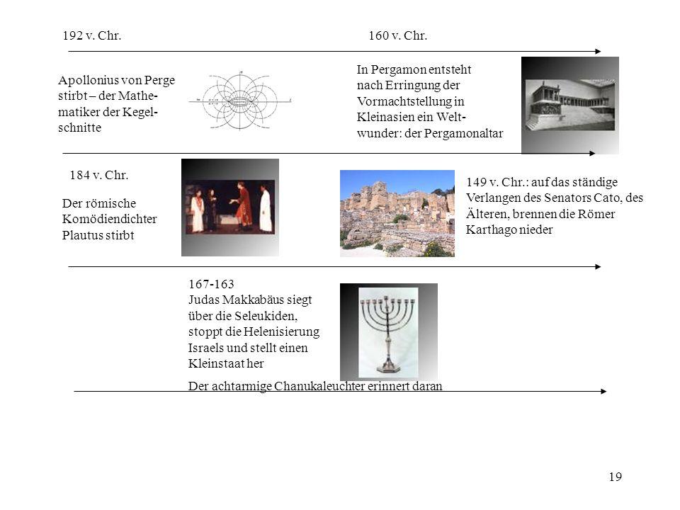 192 v. Chr. 160 v. Chr. In Pergamon entsteht. nach Erringung der. Vormachtstellung in. Kleinasien ein Welt-