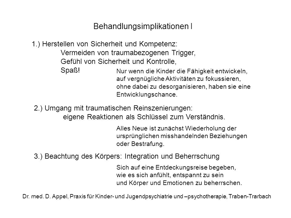 Behandlungsimplikationen I