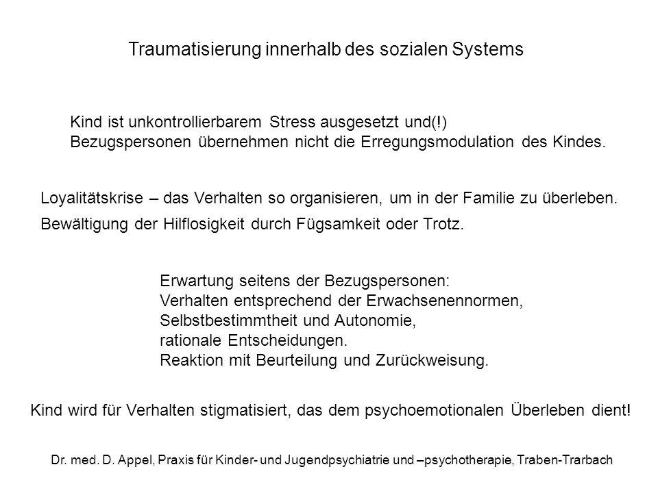 Traumatisierung innerhalb des sozialen Systems