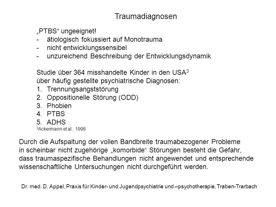 "Traumadiagnosen ""PTBS ungeeignet!"