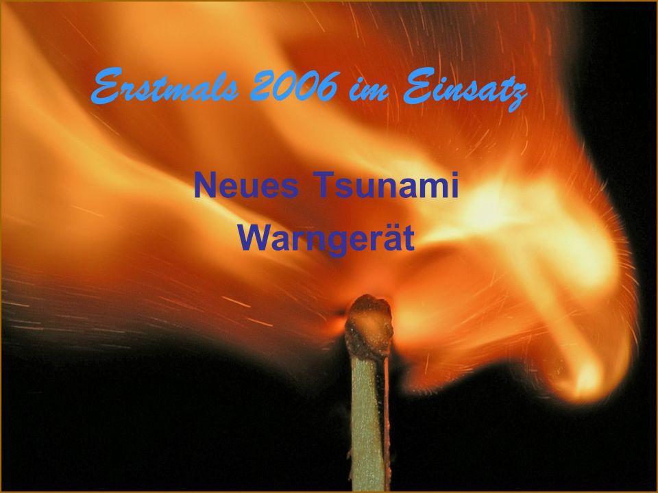Neues Tsunami Warngerät