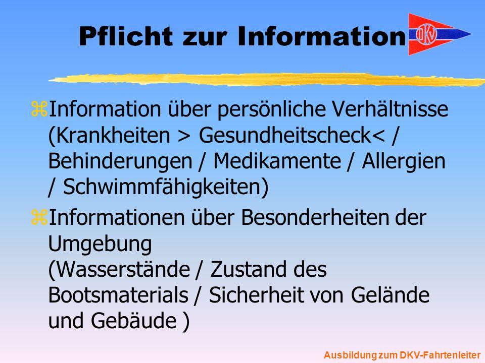 Pflicht zur Information