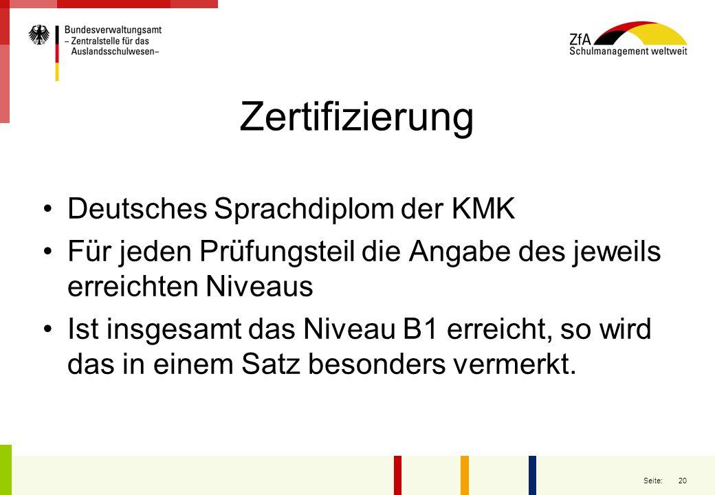 Zertifizierung Deutsches Sprachdiplom der KMK