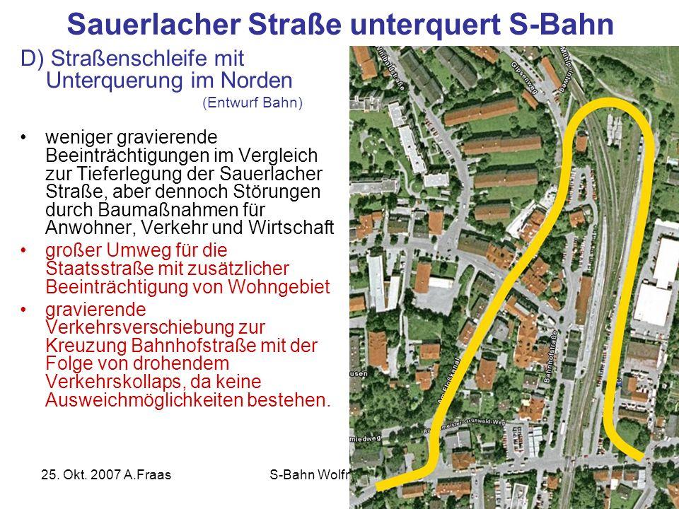 Sauerlacher Straße unterquert S-Bahn