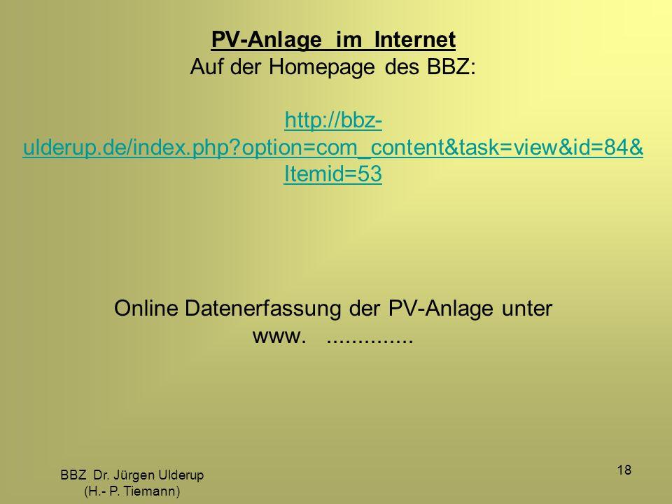 BBZ Dr. Jürgen Ulderup (H.- P. Tiemann)