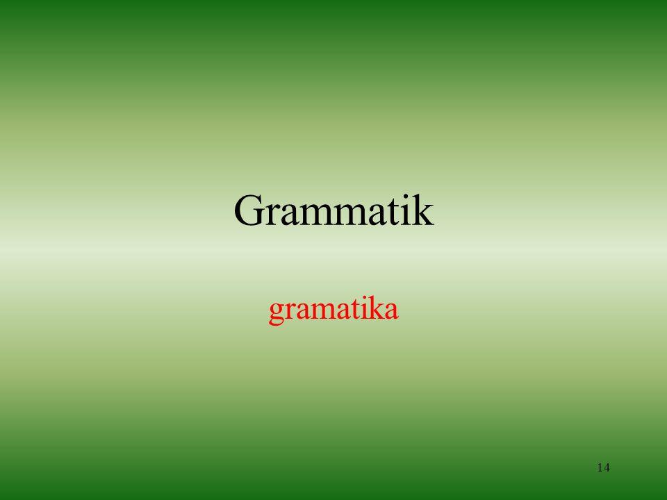Grammatik gramatika