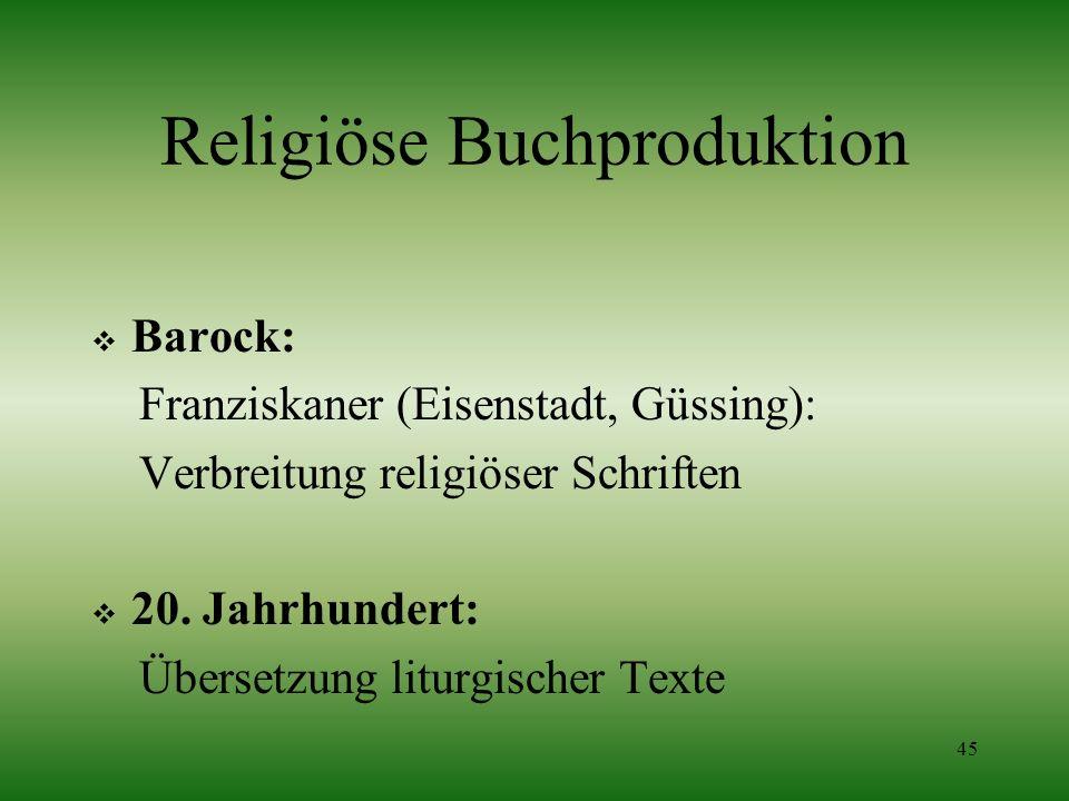 Religiöse Buchproduktion