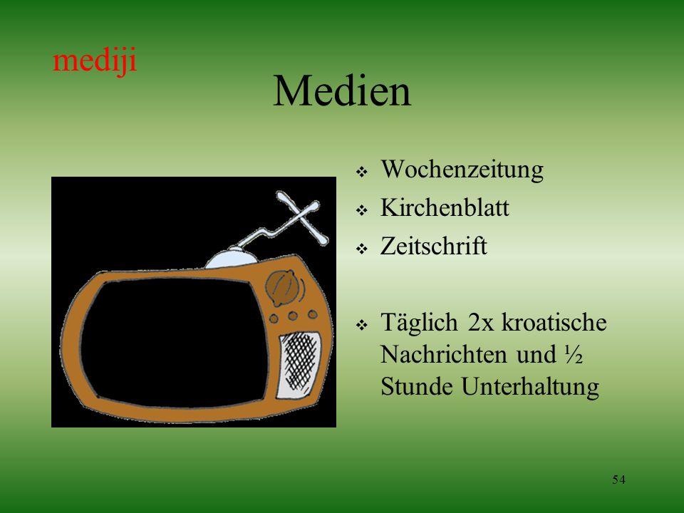 Medien mediji Wochenzeitung Kirchenblatt Zeitschrift