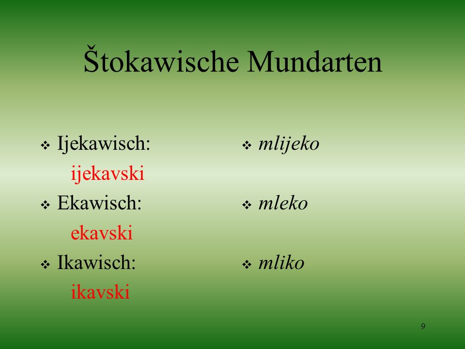 Štokawische Mundarten