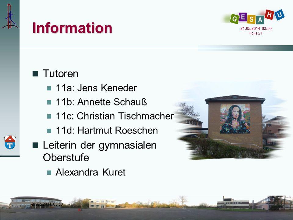 Information Tutoren Leiterin der gymnasialen Oberstufe